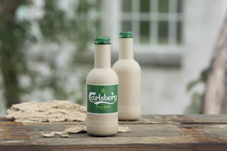 Beer giant Carlsberg unveils world's first paper beer bottle