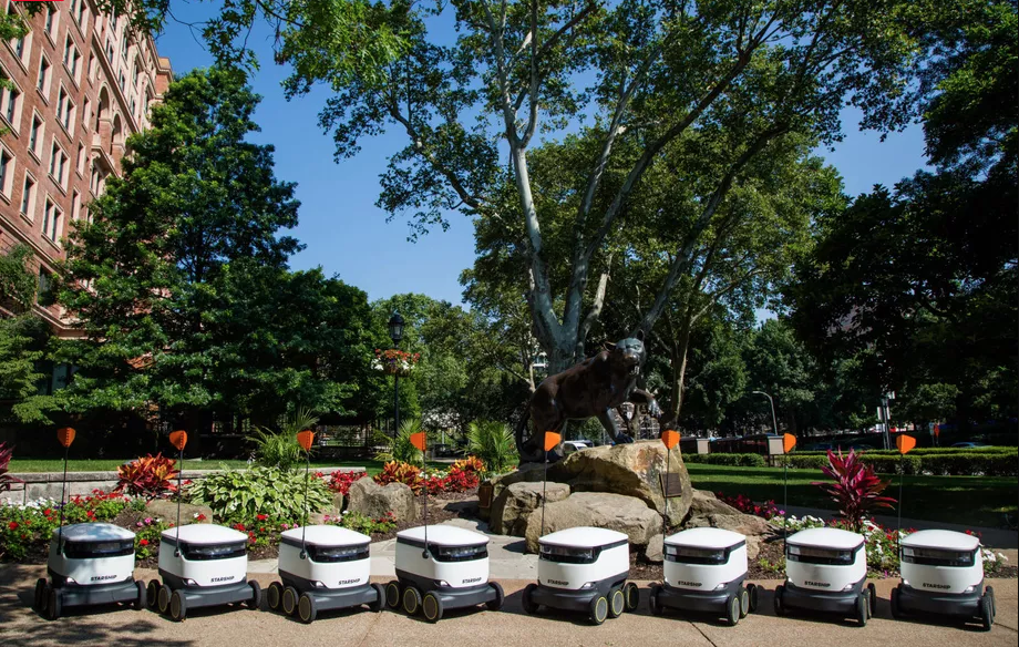 robots to deliver to college campuses