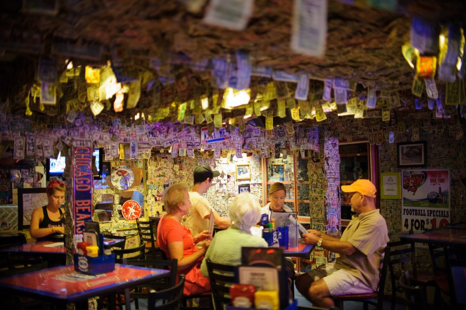 This dive bar in Florida peeled nearly $14,000 off its walls for Hurricane Dorian Relief
